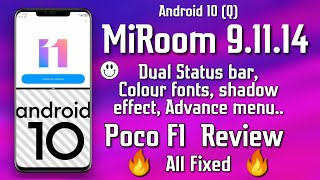 Poco F1 - Android 10 Miroom 9.11.14 Review  Shocking Andamp Rocking🔥 Features Andamp All Fixed 🔥