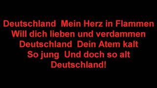 ♠  Rammstein Deutschland  ♠  Lyrics on screen, NO SINGING, 1080 HD