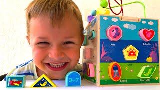 Учим геометрические фигуры, цифры и цвета на английском языке