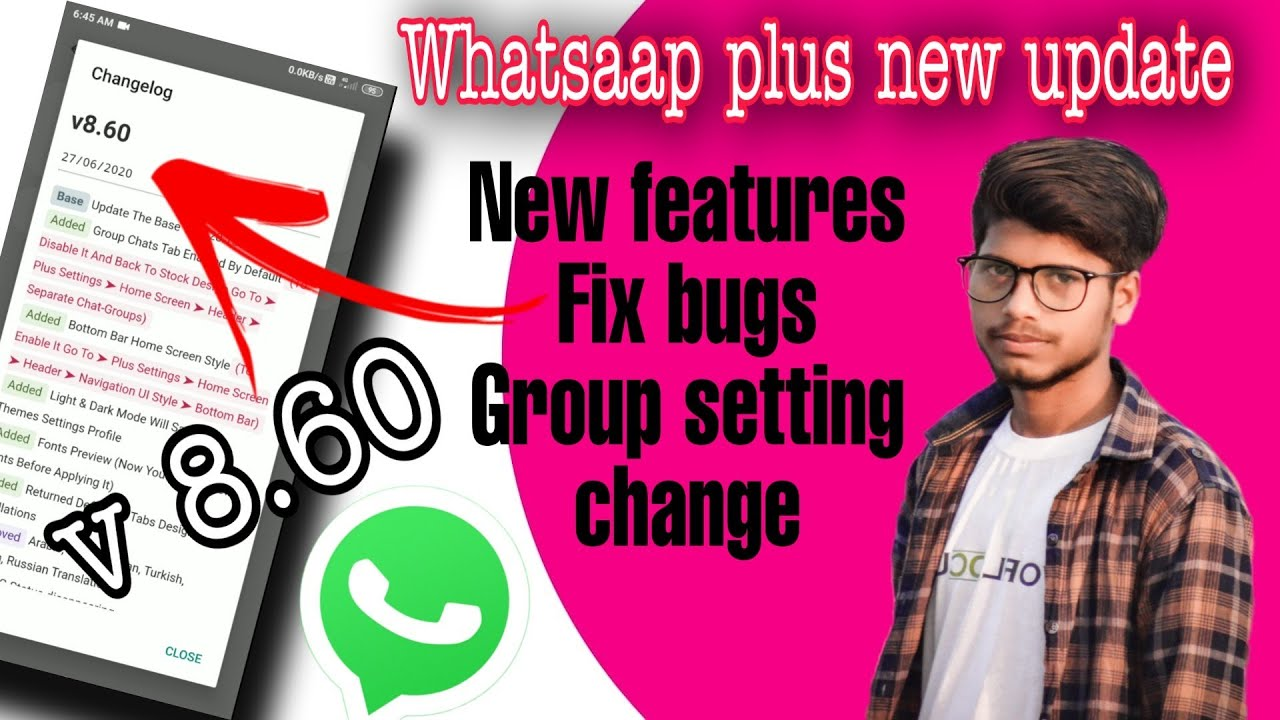 Whatsapp plus New Update V8.60/ Add new features - YouTube