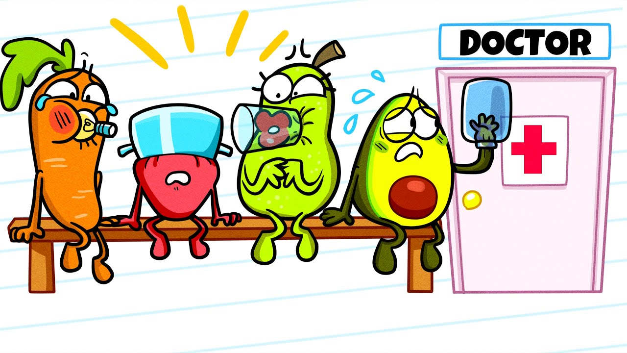 Hilarious Checkup at Vegetable Hospital | Animated Shorts | Avocado Couple