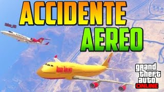 ACCIDENTE AÉREO!! - Gameplay GTA 5 Online Funny Moments