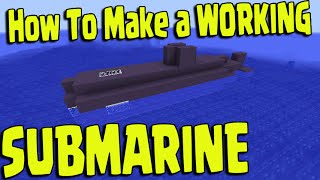 Minecraft PS3, PS4, Xbox, Wii U - WORKING SUBMARINE BOAT Slime Blocks PE (Pocket Edition)