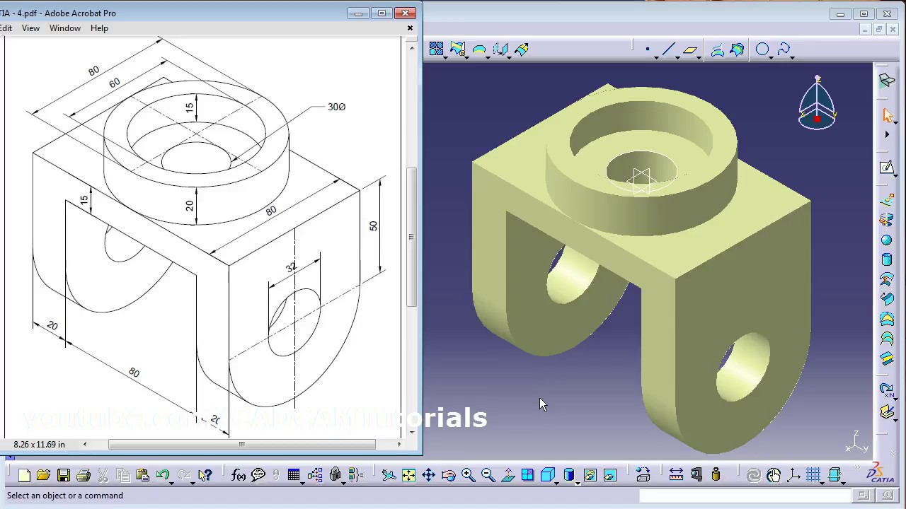 CATIA Surface Design Exercises for Beginners - 2 | CATIA Surface Design  Tutorial