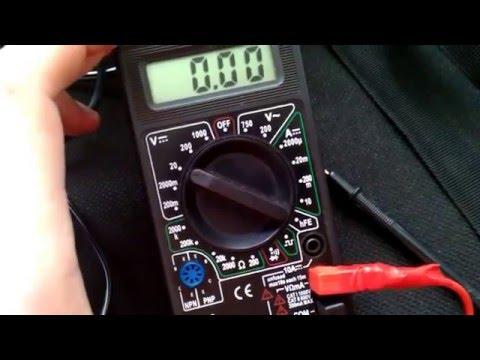 Как замерить амперы мультиметром на аккумуляторе