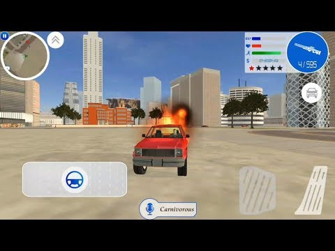 ► Gangster Town Rope Vice District By Naxeex Studio Gangster Rope Hero Fire Car DriveCrime Simulator