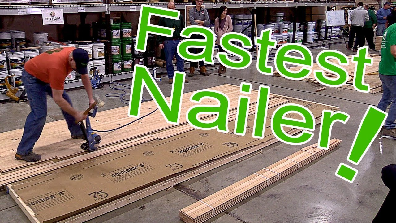 Robert O'Connell Wins Fastest Nailer at