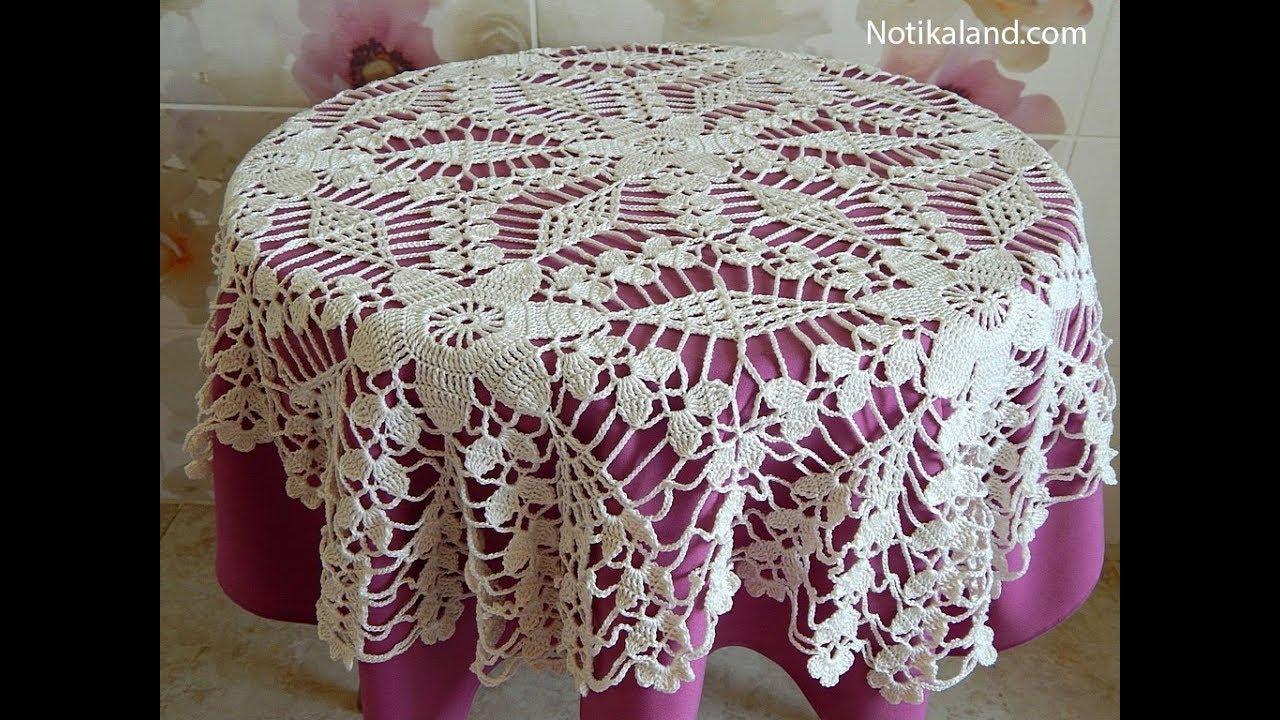 Crochet motif patterns for tablecloth Part 8 Border Diy crochet ...