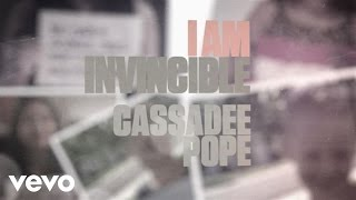 Repeat youtube video Cassadee Pope - I Am Invincible (Lyric Version)