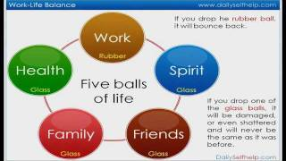 Work-Life Balance Video : Five balls of life