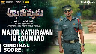 Abhimanyudu | Major Karunakar In Command Background Score | Vishal, Arjun | Yuvan Shankar Raja