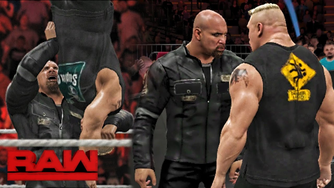 Download WWE RAW 2K17 - Brock Lesnar Confronts Goldberg Face to Face - RAW 10/24/16