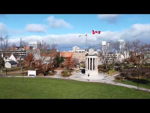 How is The beautiful  City Kitchener Ontario Canada.Drone Mavic Mini footage.