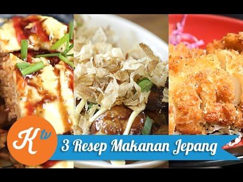 3 Resep Masakan Jepang Youtube