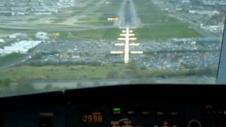Kingfisher A330 Landing Heathrow Cockpit- Pilots Viewpoint!