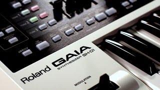 Roland GAIA SH-01 Virtual Analog Synthesizer  Demo