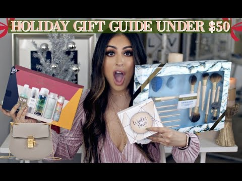 BEST HOLIDAY GIFT GUIDE UNDER $50 DOLLARS FOR HER! AFFORDABLE GIFT SETS, FASHION, & HAIR