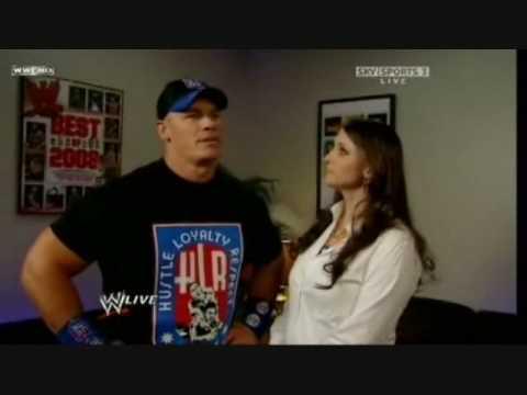 John Cena and Stephanie funny Segment plus...