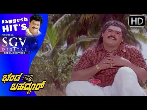 Jaggesh Movies - Jaggesh punches bad people comedy Fight Scenes | Bhanda Alla Bhahaddur Movie