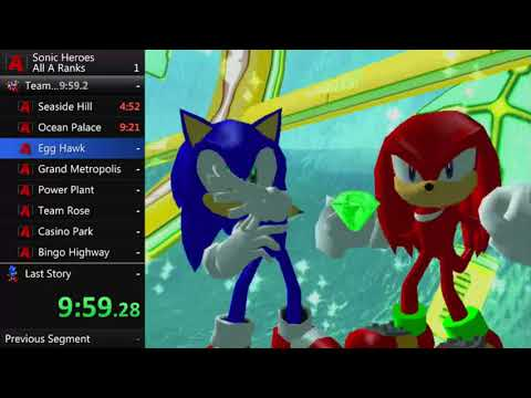 Sonic Heroes All A Ranks Speedrun In 13:38:35 (Part 1)