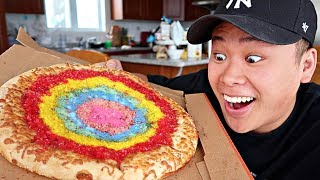 DIY EDIBLE GLITTER PIZZA!!!! (HOW THIS IS MADE WILL BLOW YOUR MIND)