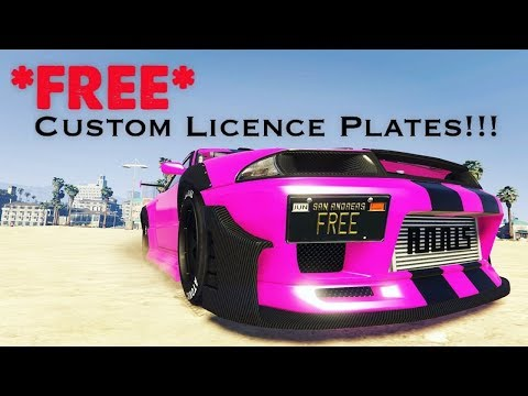 GTAV Online - How To Get A Custom License Plate