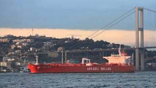 Cargo Ship and Bridge