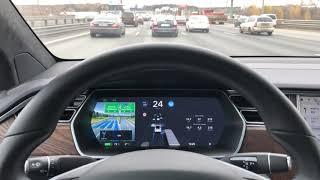 Tesla Model X autopilot on Firmware 9.0