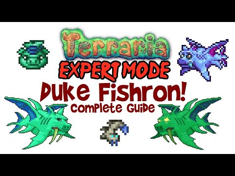 Terraria Duke Fishron Guide, Expert Mode & Normal! (Drops, Mount & Easy Fight, PC/mobile/console)