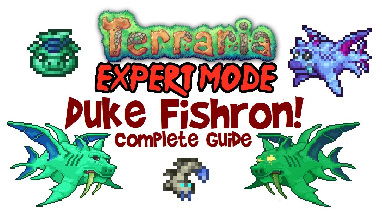 Terraria Duke Fishron Guide Expert Mode Normal Drops Mount Easy Fight Pc Mobile Console Youtube