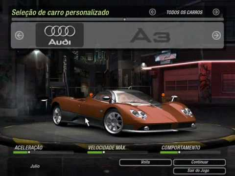 Vehicles/Cars list for Need for Speed Underground 2