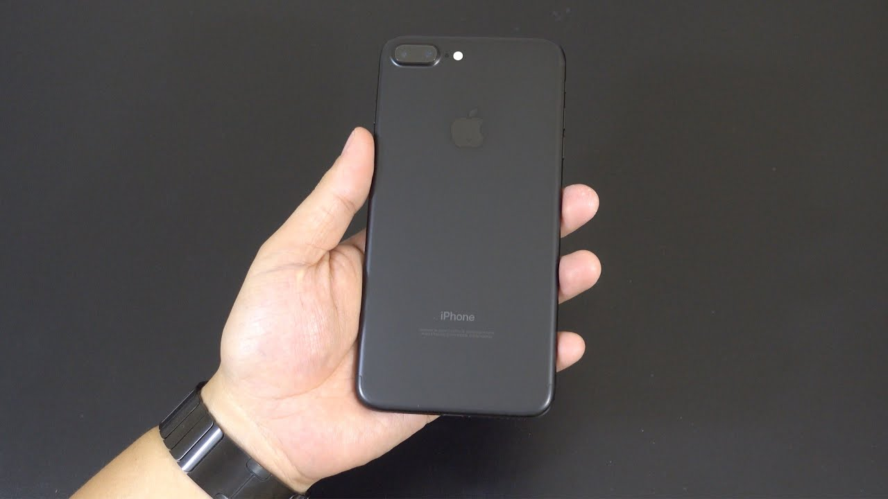 Apple Iphone 7 Plus Matte Black Unboxing Youtube