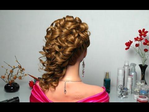 Праздничная прическа на основе французских кос.