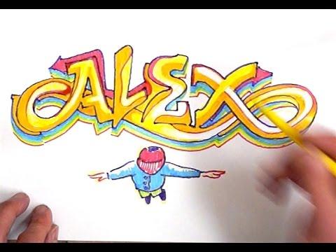 The Name Alex In Graffiti Letters