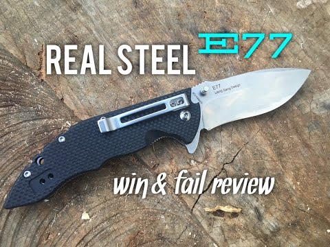 Real Steel E77 Low Cost Budget Flipper EDC Knife - Win and Fail Review