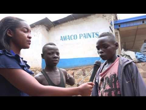 A day in life of street children in Kigali - Rwanda