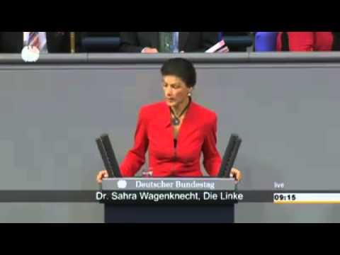Sahra Wagenknecht über die Politik Merkels in Deutschland