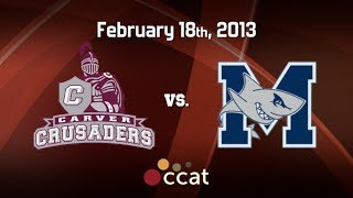 Carver Boys Basketball vs. Monomoy (2/18/13)
