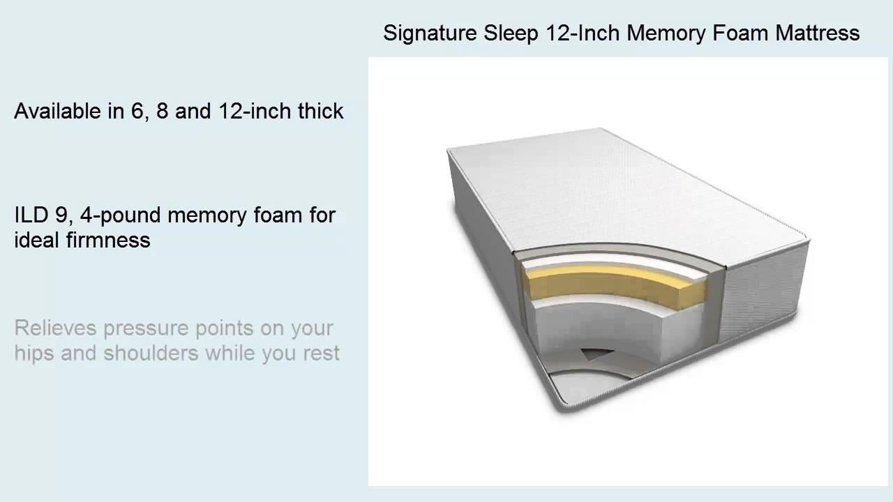 Signature Sleep 12 Inch Memory Foam Mattress Reviews Youtube