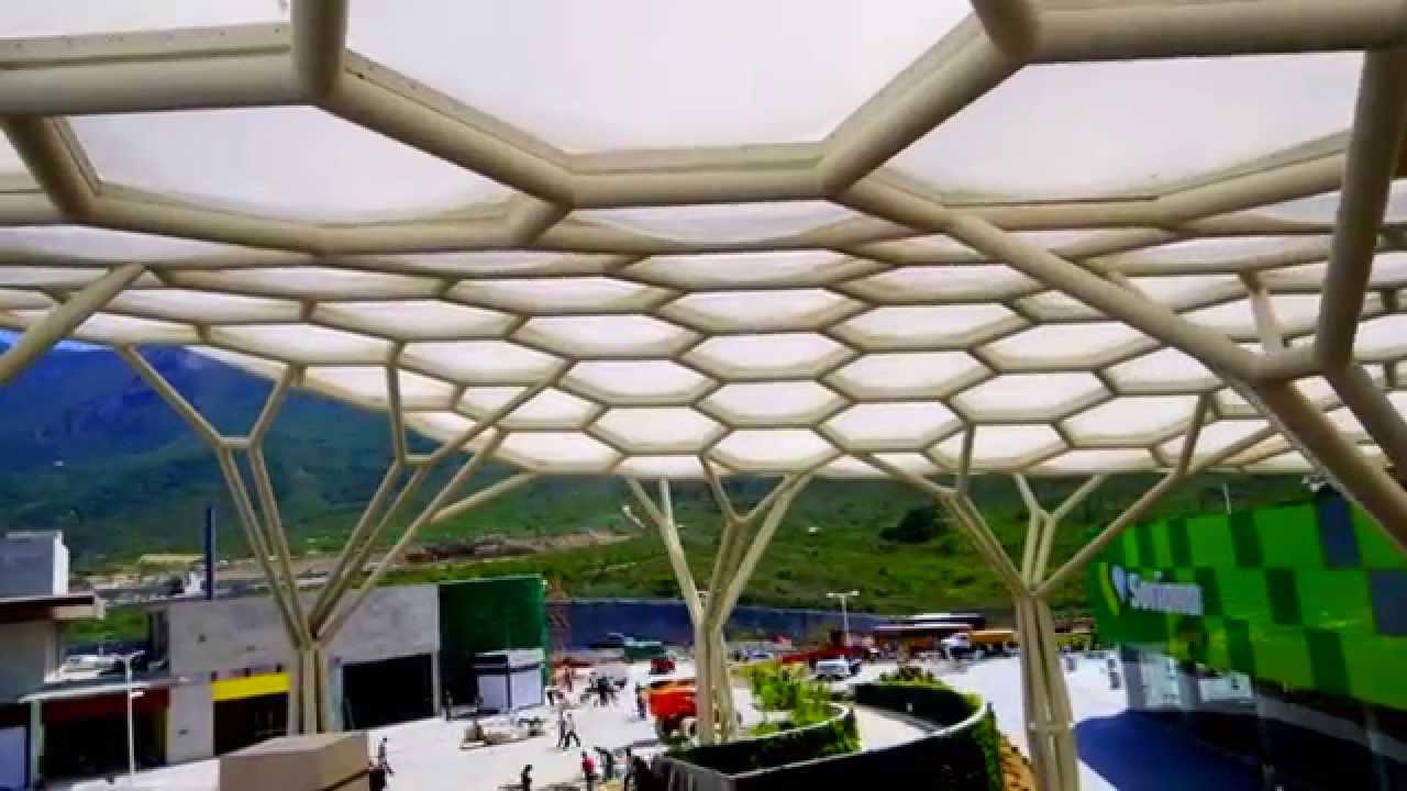 1ra cubierta de etfe en m xico youtube - Lonas para techos ...