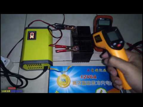 Review charger aki otomatis 12V 6A   Review charger liquid acid battery #2