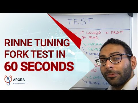 Rinne tuning fork test in 60 seconds... #aroraBites