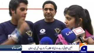 4th National Deaf Squash Championship - 2009 Final, Dr. Khalid Jamil Akhtar Addressing