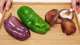 素食家常菜料理│教你青椒創意新吃法,加三朵香菇,簡單做一做,營養下飯,出鍋比肉還香,│Vegan Recipe │EP159