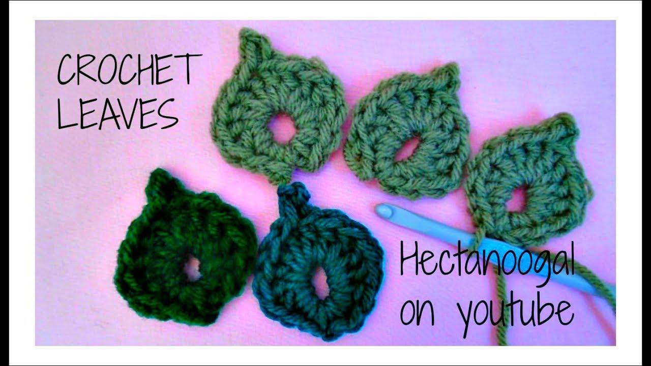 HOW TO CROCHET LEAVES - crochet leaf - YouTube