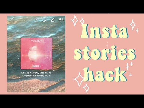 How to add background to your music share insta story [ENG/INDO SUB]🍓🍀