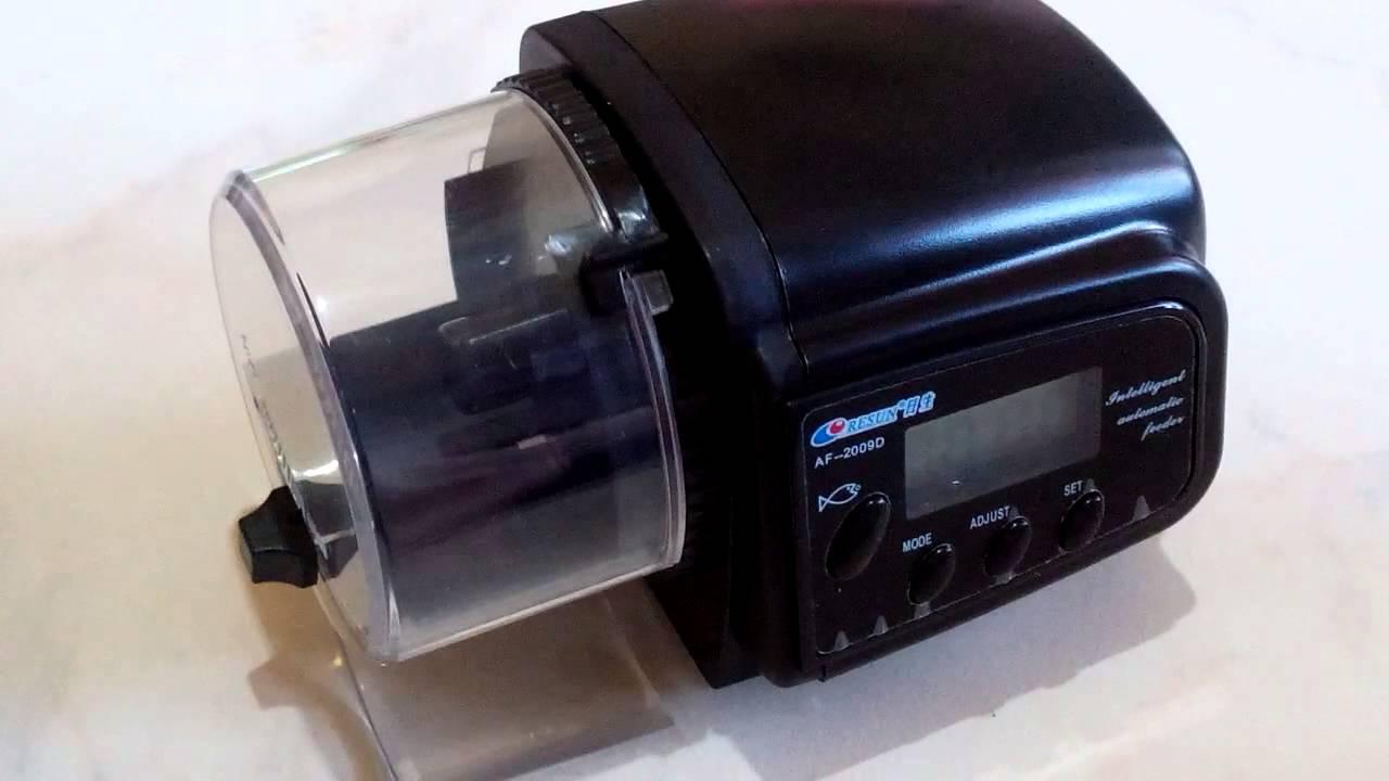 Aquarium fish tank auto food feeder lcd timer - Digital Lcd Auto Automatic Aquarium Fish Tank Food Feeder Timer Feeding Youtube