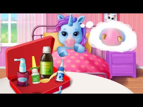 4 Сестренки Маленькие Радужные Пони У Врача/Игра Мультик для девочек: My Little Pony