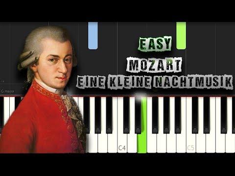 Mozart - Eine Kleine Nachtmusik - EASY - [Piano Tutorial Synthesia] (Download MIDI)