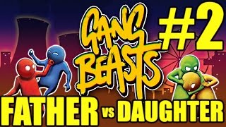 gang beasts gameplay father vs daugther 2 flawless pc